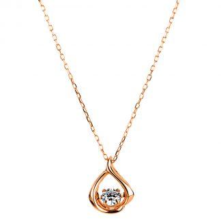 10 kt vörös arany nyaklánc 1 gyémánttal 4A118R0-2