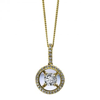 10 kt yellow gold necklace with 36 diamonds 4D249G0-1