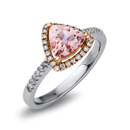 14 kt  color stone with 36 diamonds