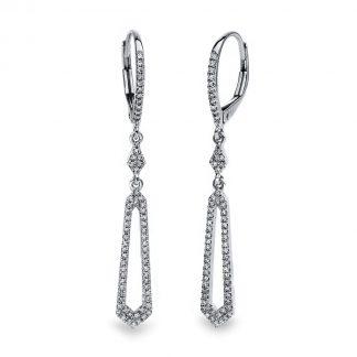 14 kt fehérarany fülbevaló 132 gyémánttal 2E228W4-1