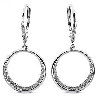 14 kt fehérarany fülbevaló 58 gyémánttal 2A503W4-2