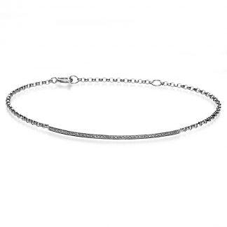14 kt fehérarany karkötő 40 gyémánttal 5A022W4-2