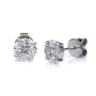 14 kt fehérarany steckeres 10 gyémánttal 2A664W4-1