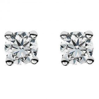 14 kt fehérarany steckeres 2 gyémánttal 2A019W4-2