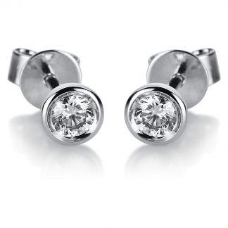 14 kt fehérarany steckeres 2 gyémánttal 2B411W4-1