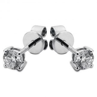14 kt fehérarany steckeres 2 gyémánttal 2B429W4-1