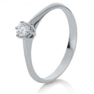 14 kt fehérarany szoliter 1 gyémánttal 1A080W455-1