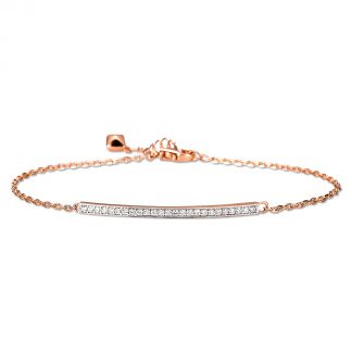 14 kt red gold bracelet with 25 diamonds 5A031R4-1