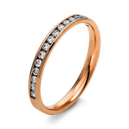 14 kt red gold eternity half with 16 diamonds 1L917R453-2