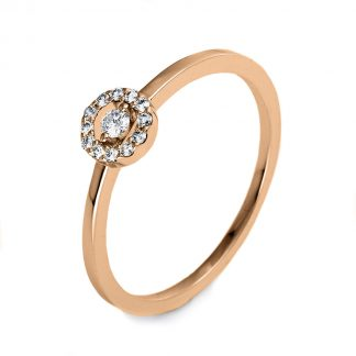 14 kt red gold illusion with 13 diamonds 1O506R453-1