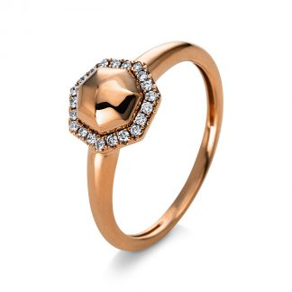 14 kt red gold multi stone with 21 diamonds 1Q817R454-1