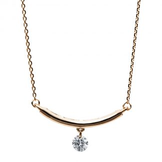 14 kt red gold necklace with 1 diamond 4B203R4-1
