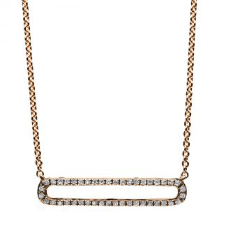 14 kt red gold necklace with 44 diamonds 4B028R4-1