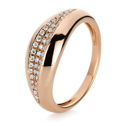 14 kt red gold pavé with 43 diamonds 1B666R453-1