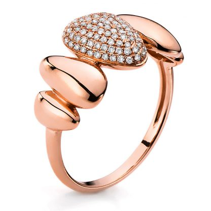 14 kt red gold pavé with 95 diamonds 1B673R454-1