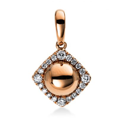 14 kt red gold pendant with 20 diamonds 3D228R4-1