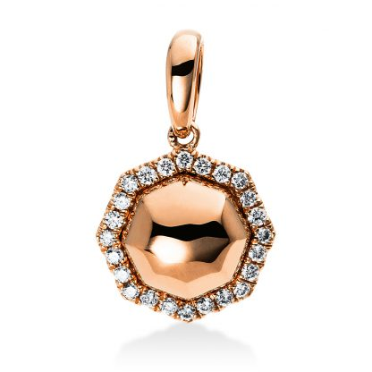 14 kt red gold pendant with 24 diamonds 3D235R4-1