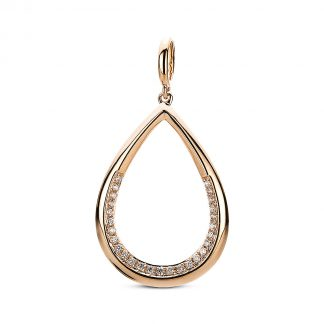 14 kt red gold pendant with 27 diamonds 3A276R4-1