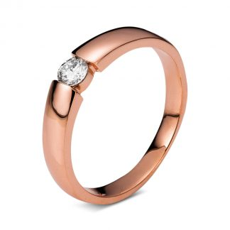 14 kt red gold solitaire with 1 diamond 1A356R452-2