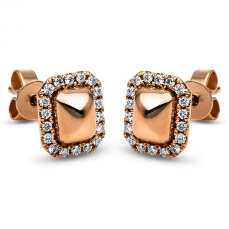 14 kt red gold studs with 36 diamonds 2H267R4-1