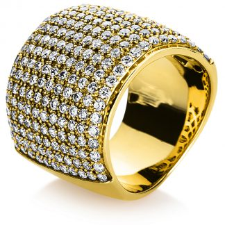 14 kt sárga arany több köves gyűrű 220 gyémánttal 1A002G455-1