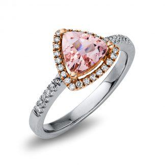 14 kt  színes drágakő 36 gyémánttal