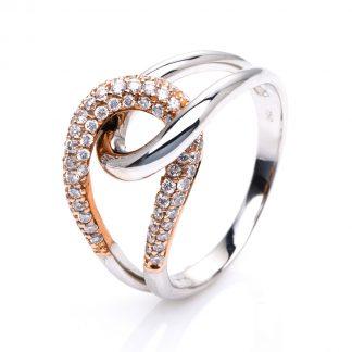 14 kt  több köves gyűrű 69 gyémánttal 1E321WR453-1