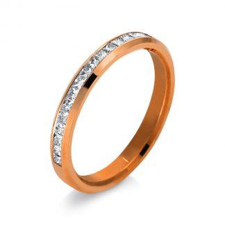 14 kt vörös arany félig köves eternity 17 gyémánttal 1N970R453-1