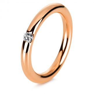 14 kt vörös arany szoliter 1 gyémánttal 1A043R451-1