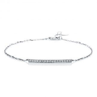 14 kt white gold bracelet with 17 diamonds 5A540W4-1