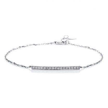 14 kt white gold bracelet with 17 diamonds 5A540W4-1