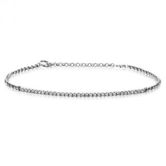 14 kt white gold bracelet with 33 diamonds 5A024W4-1