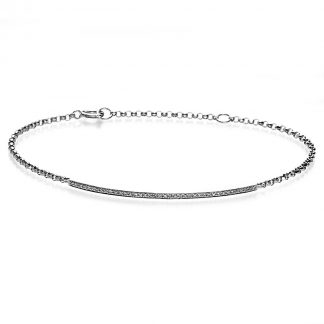 14 kt white gold bracelet with 40 diamonds 5A022W4-2