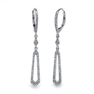 14 kt white gold earrings with 132 diamonds 2E228W4-1