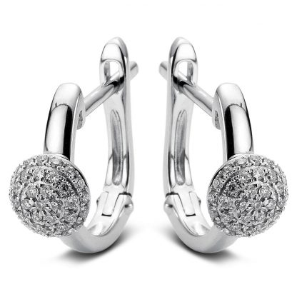 14 kt white gold earrings with 70 diamonds 2A489W4-1