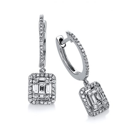 14 kt white gold earrings with 96 diamonds 2D552W4-1