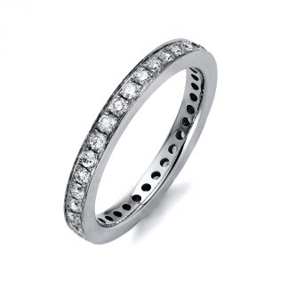 14 kt white gold eternity full with 35 diamonds 1K405W454-1