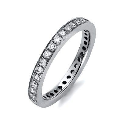14 kt white gold eternity full with 35 diamonds 1K405W454-1