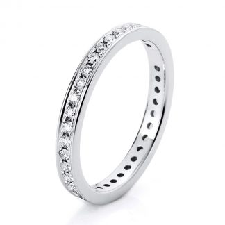 14 kt white gold eternity full with 38 diamonds 1A474W454-1