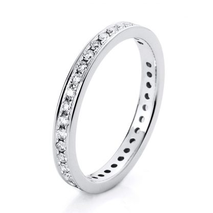 14 kt white gold eternity full with 38 diamonds 1A474W454-3