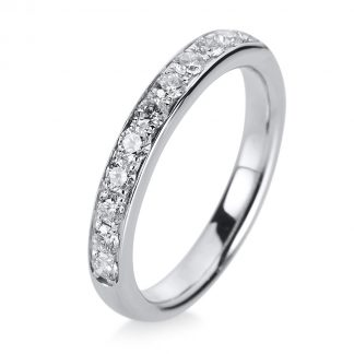 14 kt white gold eternity half with 11 diamonds 1A468W454-1