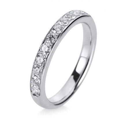 14 kt white gold eternity half with 11 diamonds 1A468W454-2