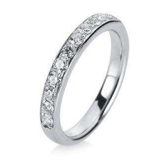 14 kt white gold eternity half with 11 diamonds 1A468W454-3