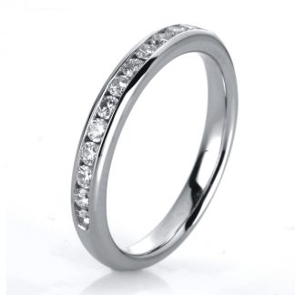 14 kt white gold eternity half with 13 diamonds 1A467W452-2