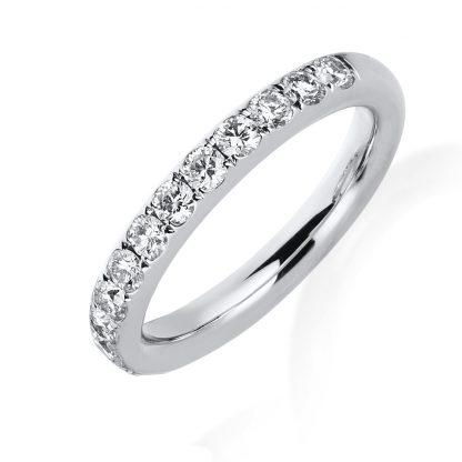 14 kt white gold eternity half with 13 diamonds 1B814W453-1