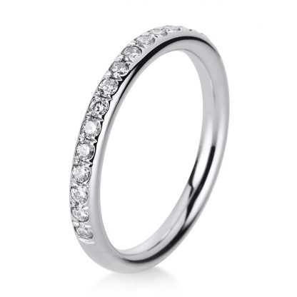 14 kt white gold eternity half with 17 diamonds 1B816W452-1