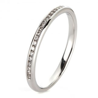 14 kt white gold eternity half with 19 diamonds 1A464W453-1