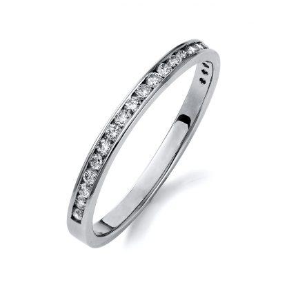 14 kt white gold eternity half with 22 diamonds 1M414W453-1
