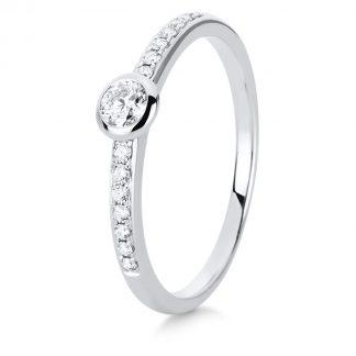 14 kt white gold multi stone with 15 diamonds 1C526W454-2