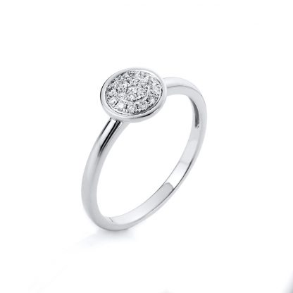 14 kt white gold multi stone with 19 diamonds 1A527W454-1